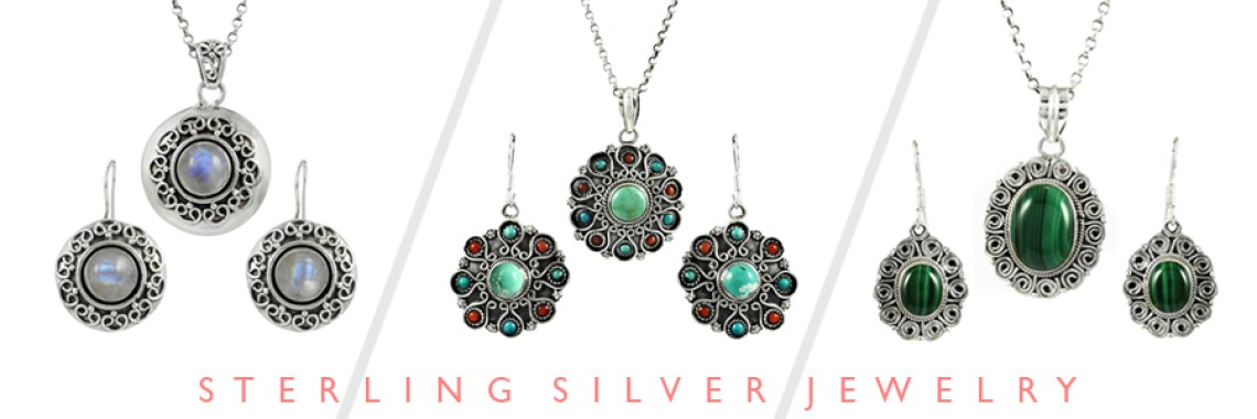 Cab Stone 3 Piece Jewelry Sets