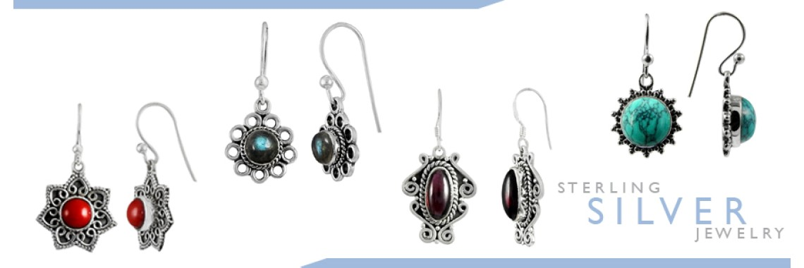 Cab Stone Earrings