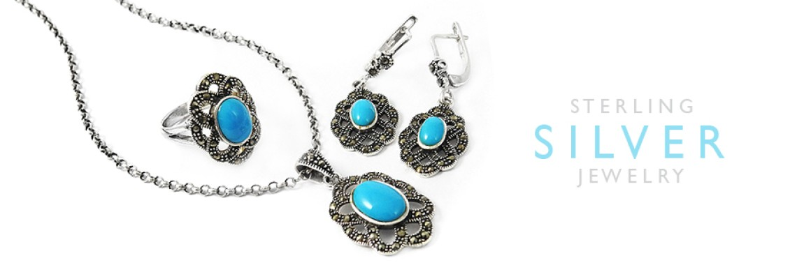 Cut & Cab Stone 4 Piece Jewelry Sets