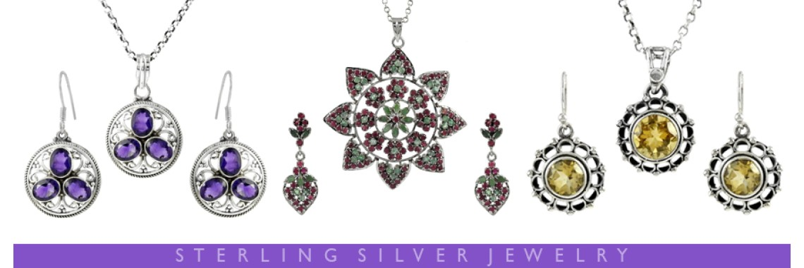 Cut Stone 3 Piece Jewelry Sets