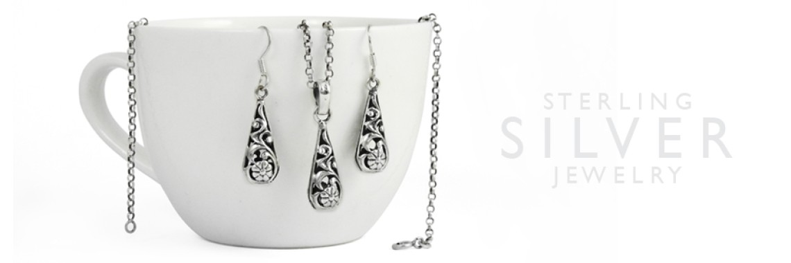 Plain Silver 3 Piece Jewelry Sets