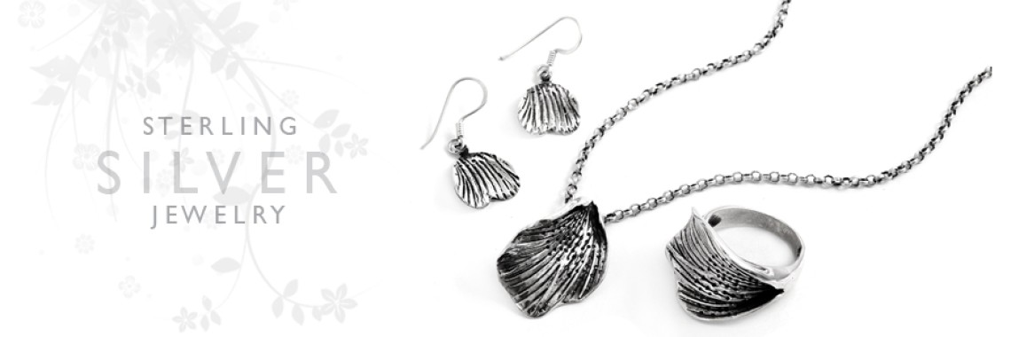 Plain Silver 4 Piece Jewelry Sets