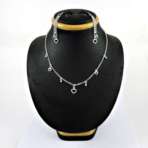 Rare 925 Sterling Silver Earring Necklace Set