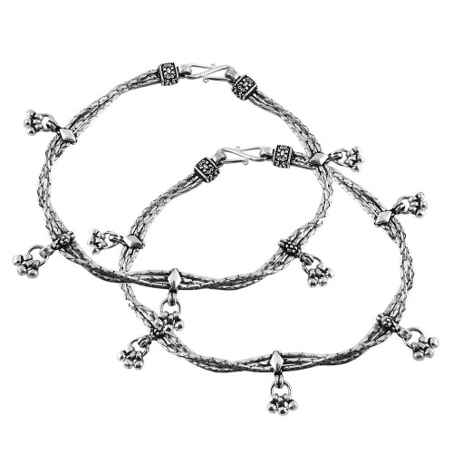 Paradise Bloom !! 925 Sterling Silver Anklets