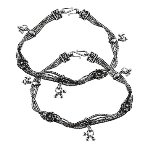 Indian Fashion 925 Sterling Silver Anklets