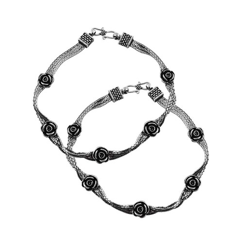 Gorgeous Design!! 925 Sterling Silver Anklets