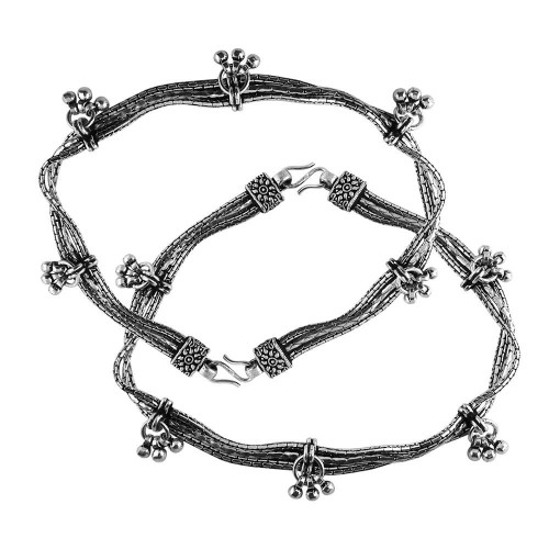 Modern Style!! 925 Sterling Silver Anklets