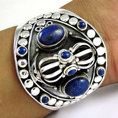Lavender Dreams ! Lapis 925 Sterling Silver Bangle