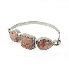 925 sterling silver Jewellery Rare Rhodochrosite Gemstone Bangle