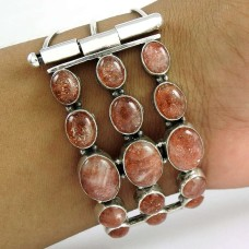 Indian Silver Jewellery Ethnic Sun Stone Gemstone Bangle