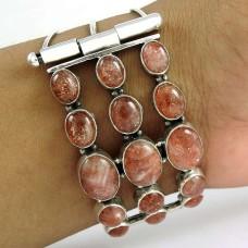 Indian Silver Jewellery Ethnic Sun Stone Gemstone Bangle