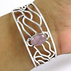 925 sterling silver gemstone Jewellery Charming Rose Quartz Gemstone Bangle