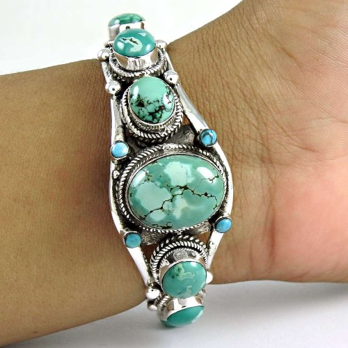 Mystic Princess!! 925 Sterling Silver Turquoise Bangle