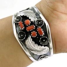 Big Secret Design!! 925 Silver Coral Bangle
