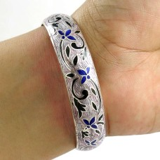 Very Light ! MeenaKari 925 Sterling Silver Bangle