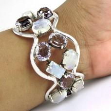 Fantastic Quality Of ! Rainbow, Amethyst 925 Sterling Silver Bangle