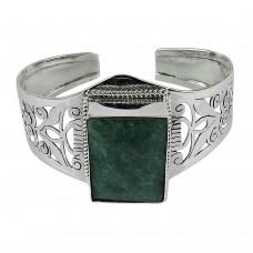 Designer 925 Sterling Silver Emerald Gemstone Bangle Jewellery