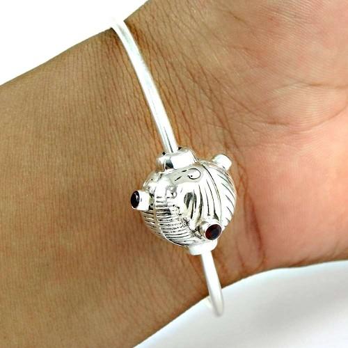 Daily WeaRing Garnet Gemstone Sterling Silver Bangle Jewellery