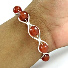 925 sterling silver gemstone Jewellery Trendy Carnelian Gemstone Bangle