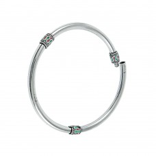 Special Moment Inlay 925 Sterling Silver Bangle