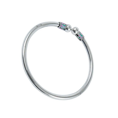 Easeful Inlay 925 Sterling Silver Bangle