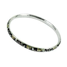 925 Sterling Silver Vintage Jewellery Charming Inlay Bangle