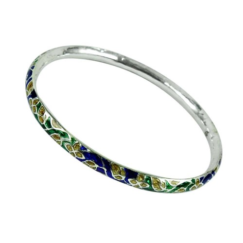 Sterling Silver Fashion Jewellery Party Wear Inlay Bangle