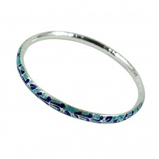 Sterling Silver Jewellery Scenic Inlay Bangle