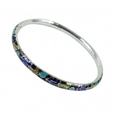 925 Sterling Silver Jewellery Scrumptious Inlay Bangle