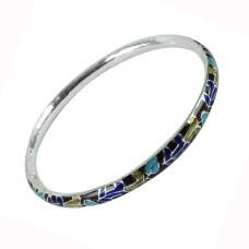 925 Sterling Silver Jewellery Stylish Inlay Bangle