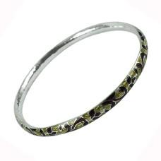 Sterling Silver Fashion Jewellery Handy Inlay Bangle