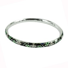 Sterling Silver Jewellery Perfect Inlay Bangle