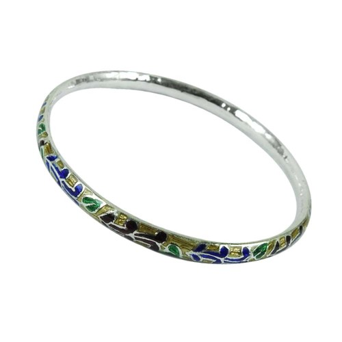 925 Sterling Silver Jewellery Personable Inlay Bangle Wholesaler India