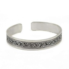 sterling silver Oxidised Jewellery Ethnic 925 Sterling Silver Bangle