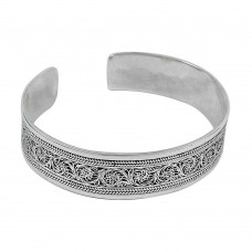 Oxidised Sterling Silver Bangle Beautiful 925 Sterling Silver Jewellery