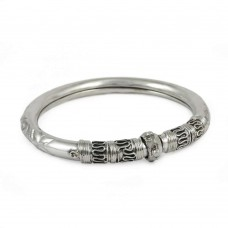 925 sterling silver Oxidised Jewellery Charming 925 Sterling Silver Bangle