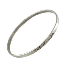 Two Tones Royal Dark!! Handmade 925 Sterling Silver Bangle