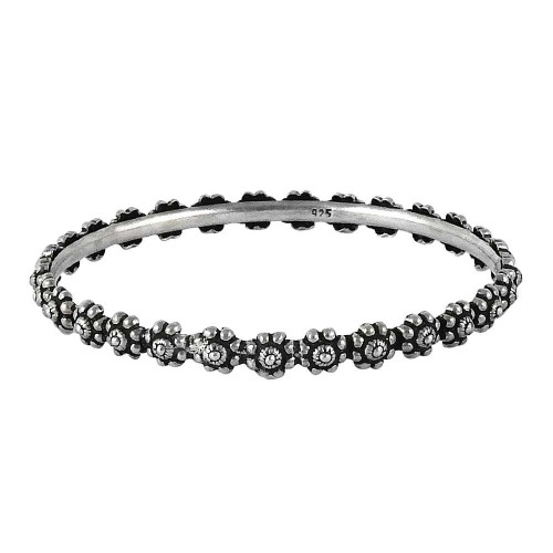 Big Relief 925 Sterling Silver Bangle