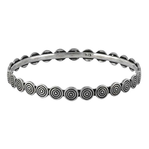 Beauty in Queen !! 925 Sterling Silver Bangle