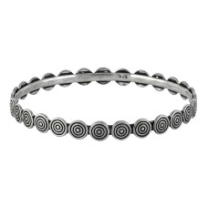 Charming 925 Sterling Silver Bangle