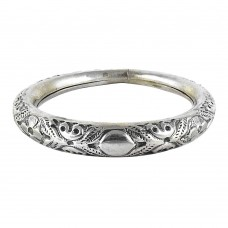 Big Falling In Love !! 925 Sterling Silver Bangle