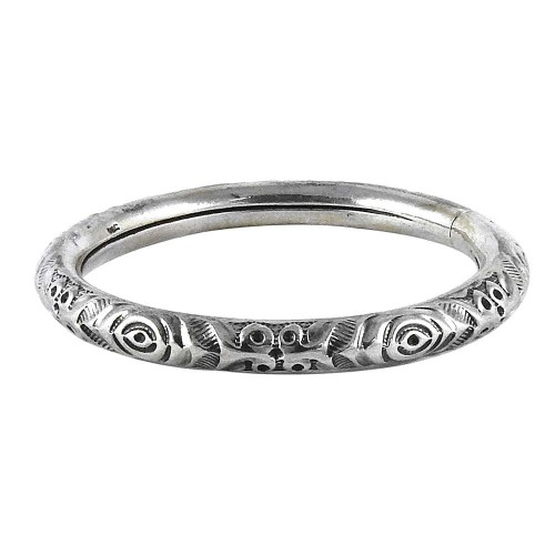 Indian Fashion !! 925 Sterling Silver Bangle