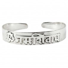 Classy OM 925 Sterling Silver Bangle