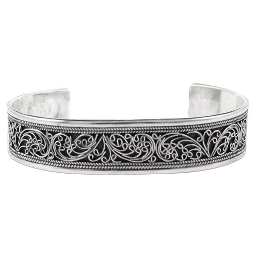 Oxidized !! 925 Sterling Silver Bangle