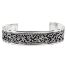 Awesome !! Oxidized 925 Sterling Silver Bangle