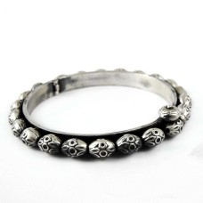 Big Natural Top !! 925 Sterling Silver Bangle