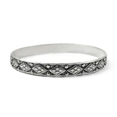Unique Design 925 Sterling Silver Bangle