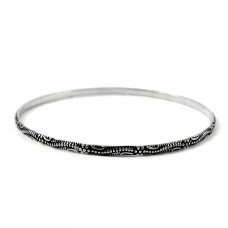 Handcrafted 925 Sterling Silver Bangle