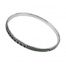 Oxidised Sterling Silver 925 Jewellery Beautiful Silver Bangle