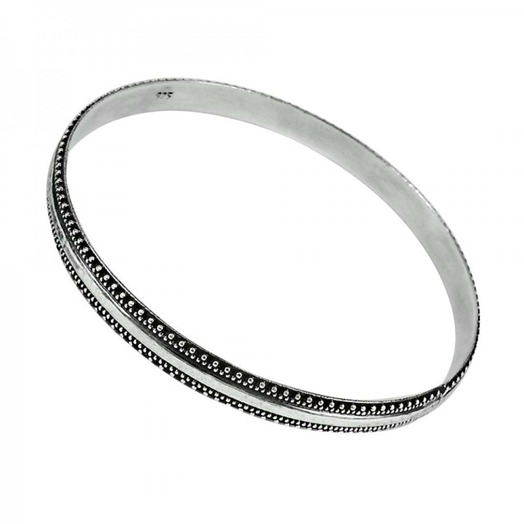 925 Sterling Silver Jewellery Oxidised Silver Bangle Wholesaler India